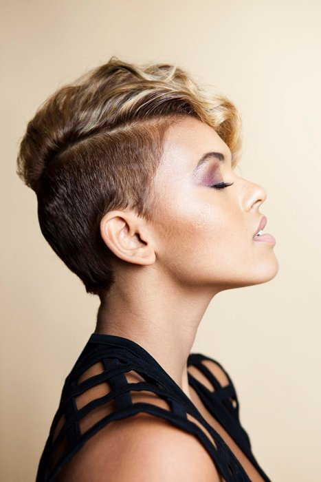 Hairstyles For Short Hair With Shaved Side : cuts black hair black hairstyles short hair cuts hair salon hairstyles ...