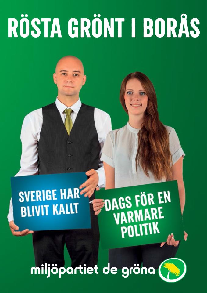 Rösta grönt i Borås för en hållbar samhällsutveckling