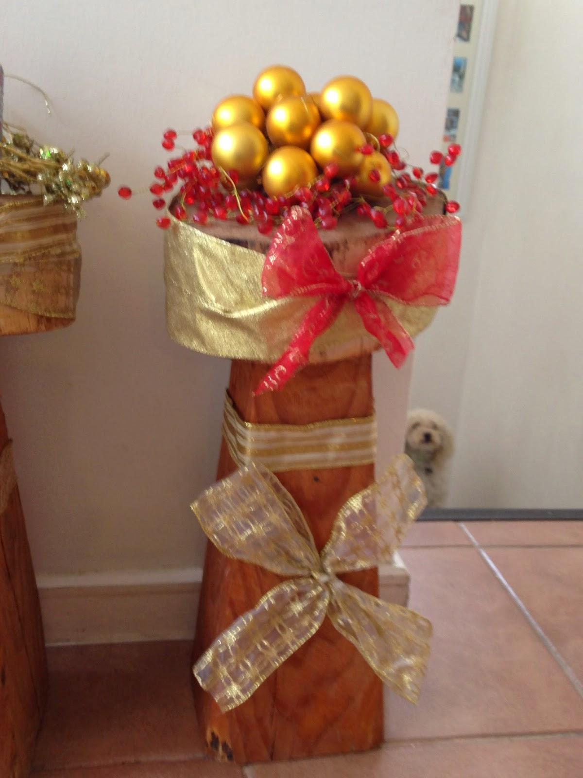 Diy decorando troncos navide os decorar tu casa es for Quiero ideas para decorar mi casa