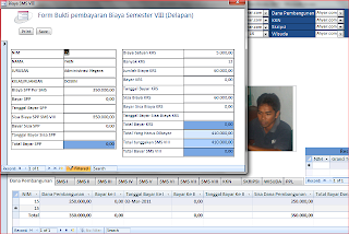 Tabel dan Form aplikasi database float