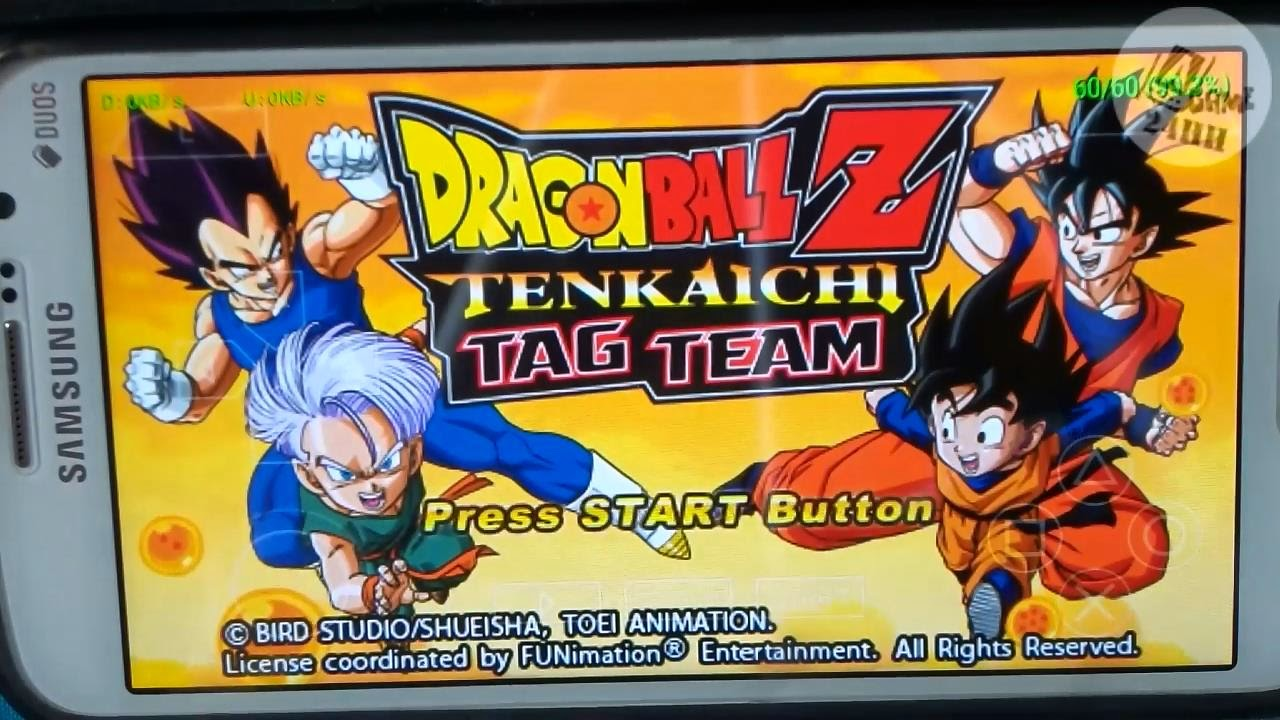[PSP] PPSSPP Dragonball Z Tenkaichi Tag Team on Android