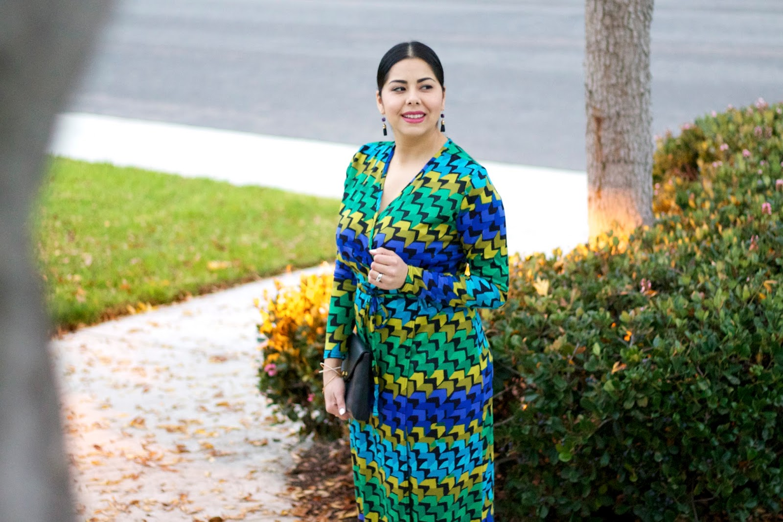geometric print dress, latina blogger, mexican blogger, latina fashion blogger
