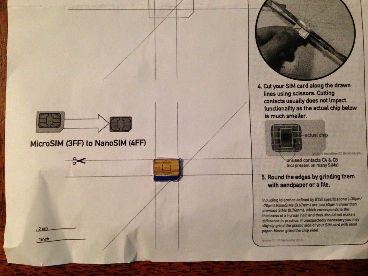 Nano Sim Cutting Template Pdf Nano Sim Card Cutting Template