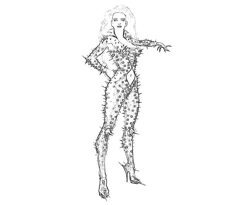 Batman Arkham City Poison Ivy Fear Coloring Pages