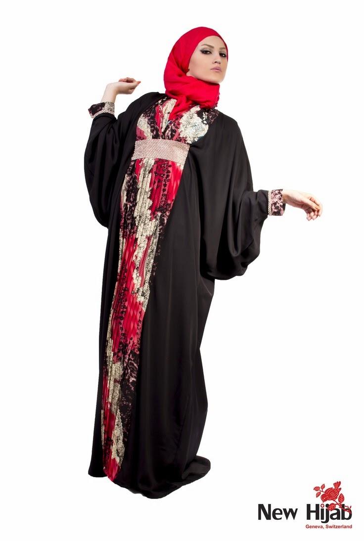عبايات خليجية للمحجبات ارقى موديلات العبايات الخليجية