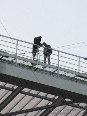 Видеооператоры на крыше стадиона Казань-арена