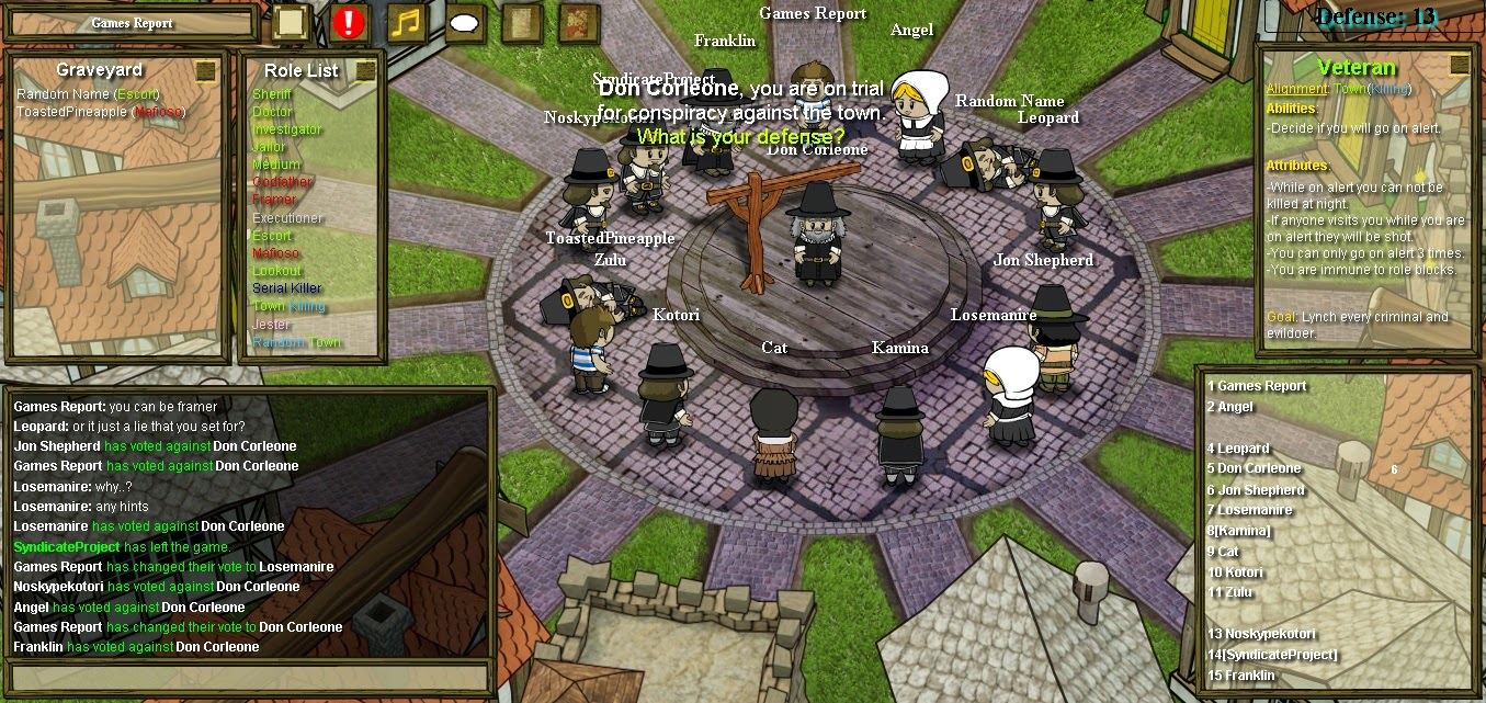Town of Salem Schuldig