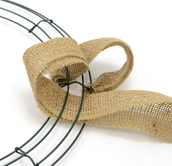 Step 3: DIY Burlap Wreath | MardiGrasOutlet.com
