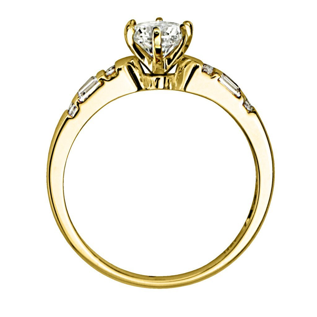 Design Wedding Rings Engagement Rings Gallery Beautiful Yellow Gold Round Cut With Side Stone