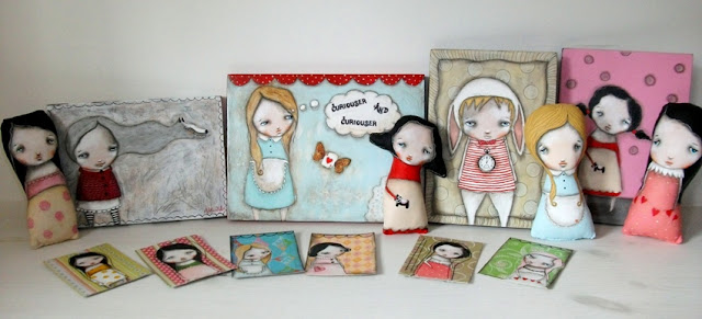 Art dolls, aceo's and original paintings from Micki Wilde
