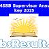 RSMSSB Supervisor Answer key 2015 Download Paper Solution