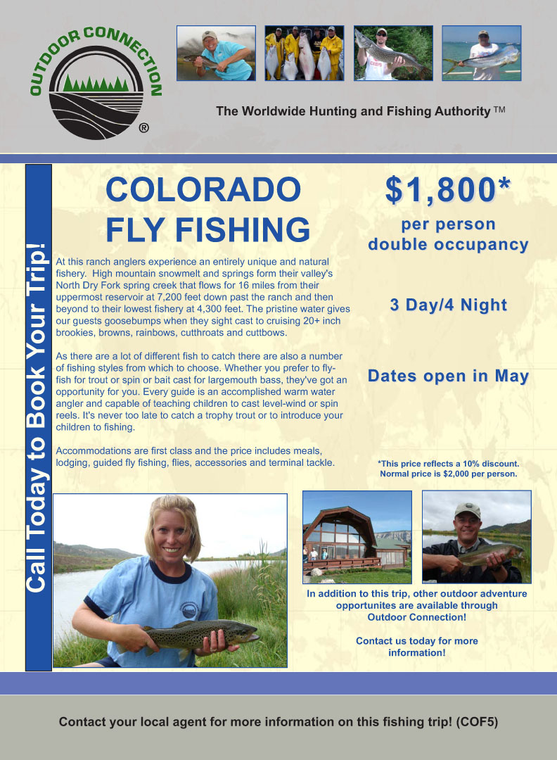 Outdoor connection 10 discount on colorado fly fishing for Discount fly fishing