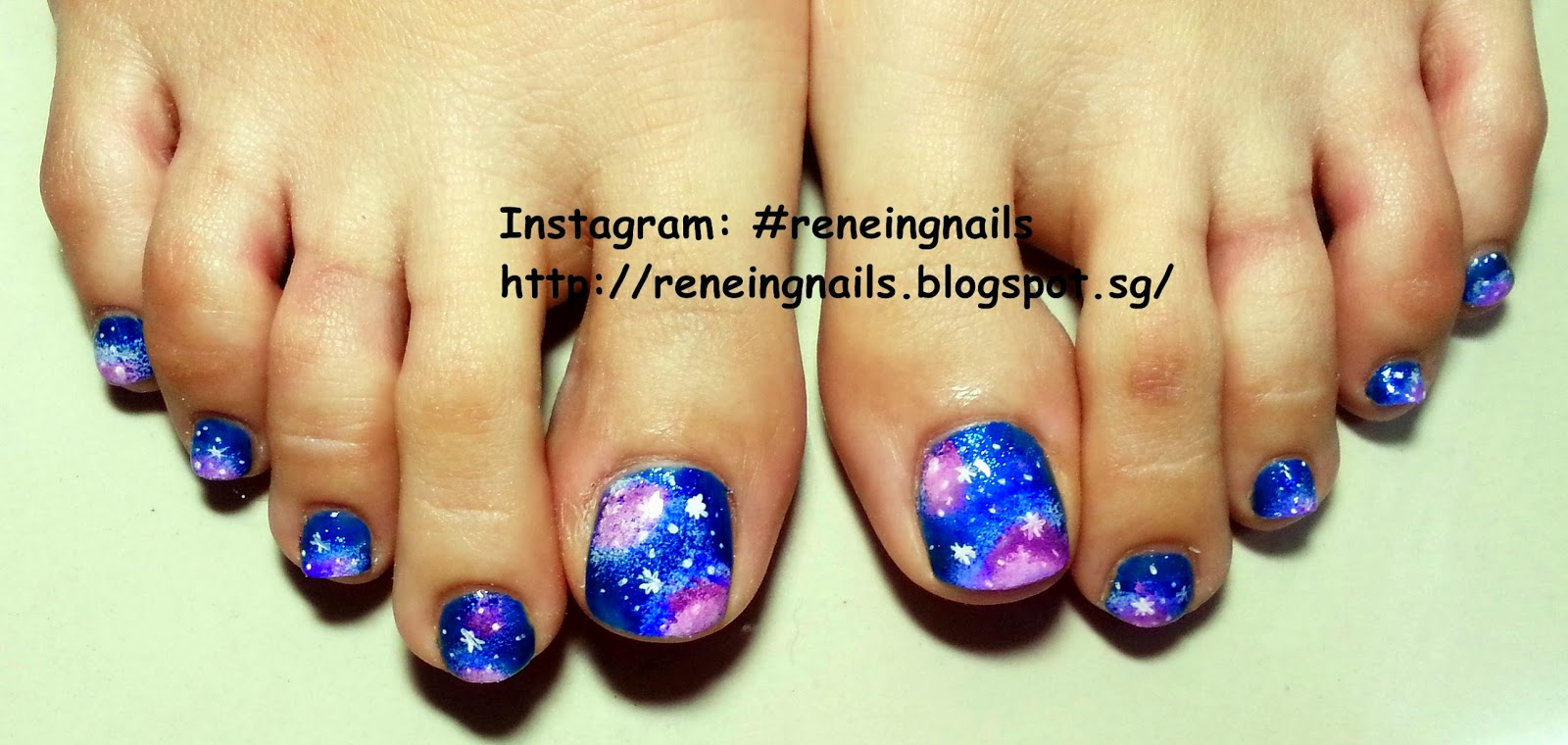 Reneing.Nails: N20035: Galaxy Toe nails for my cousin!