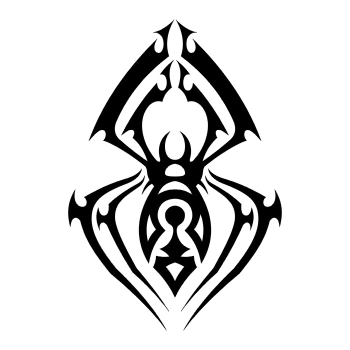 spider tarantula tatto black white tribal. Black Bedroom Furniture Sets. Home Design Ideas