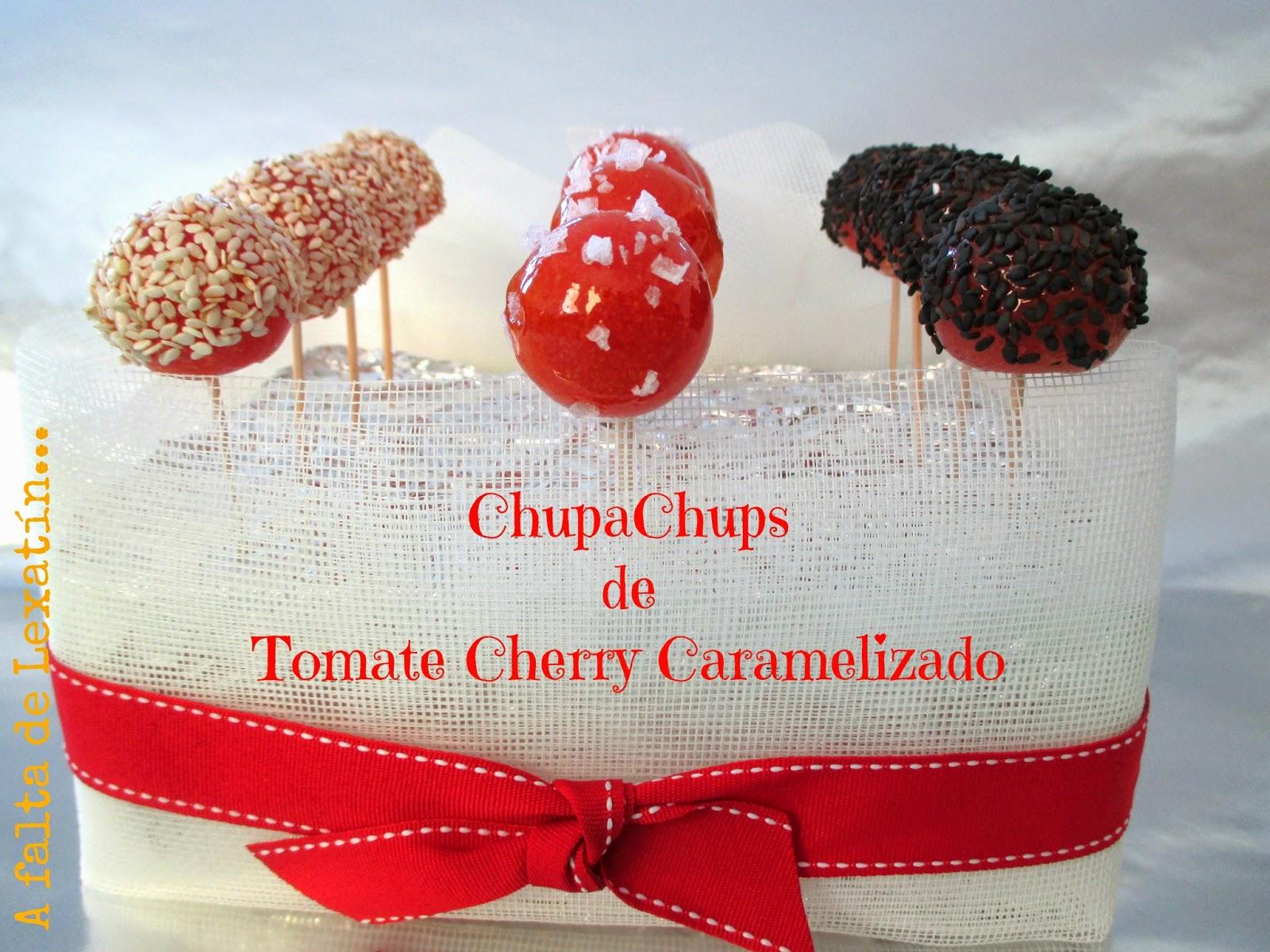 Chupachups de Tomate Cherry caramelizado