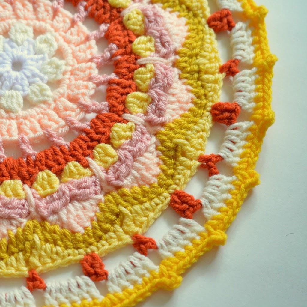 free crochet pattern sun mandala