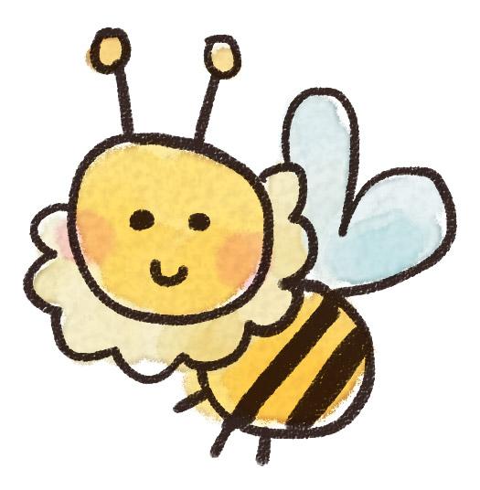 ミツバチのイラスト 虫 ゆるかわいい無料イラスト素材集