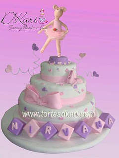 Angelina Ballerina cakes for children parties