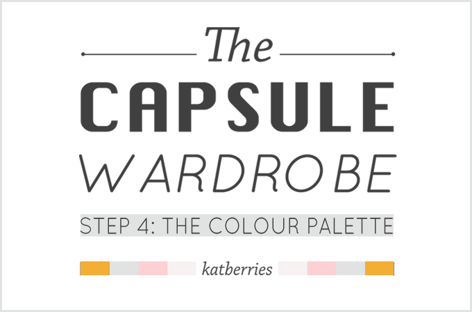 capsule wardrobe doesn't have to be neutral