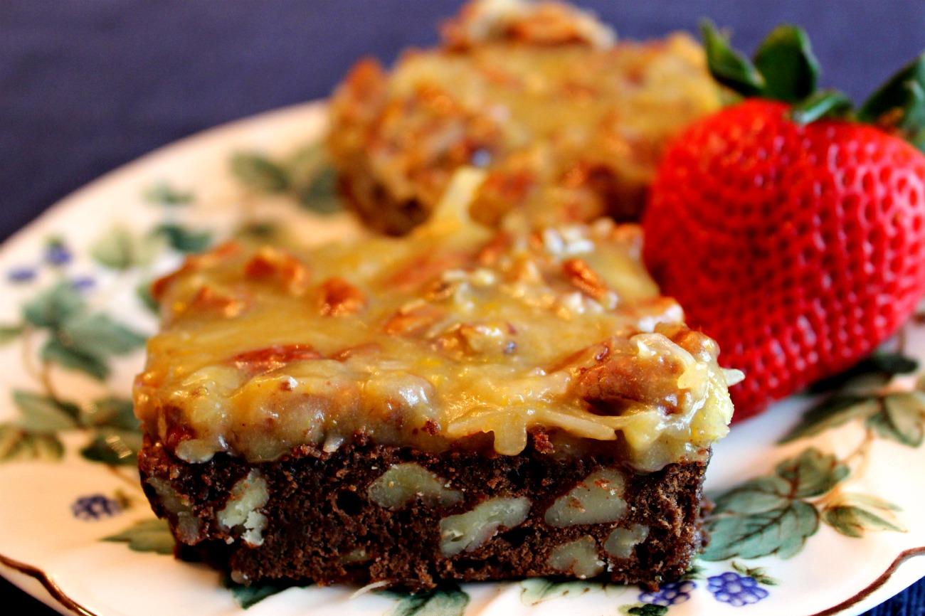 Sweet Tea and Cornbread: German Chocolate Brownies!