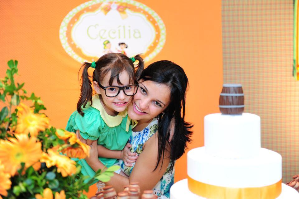 Alecrim Ateliê de Festas Festa da Chiquinha  5 aninhos da Cecília