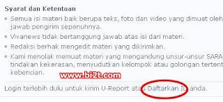 Cara Daftar di Vlog VIVAnews U-Report untuk Tingkatkan Trafik Blog