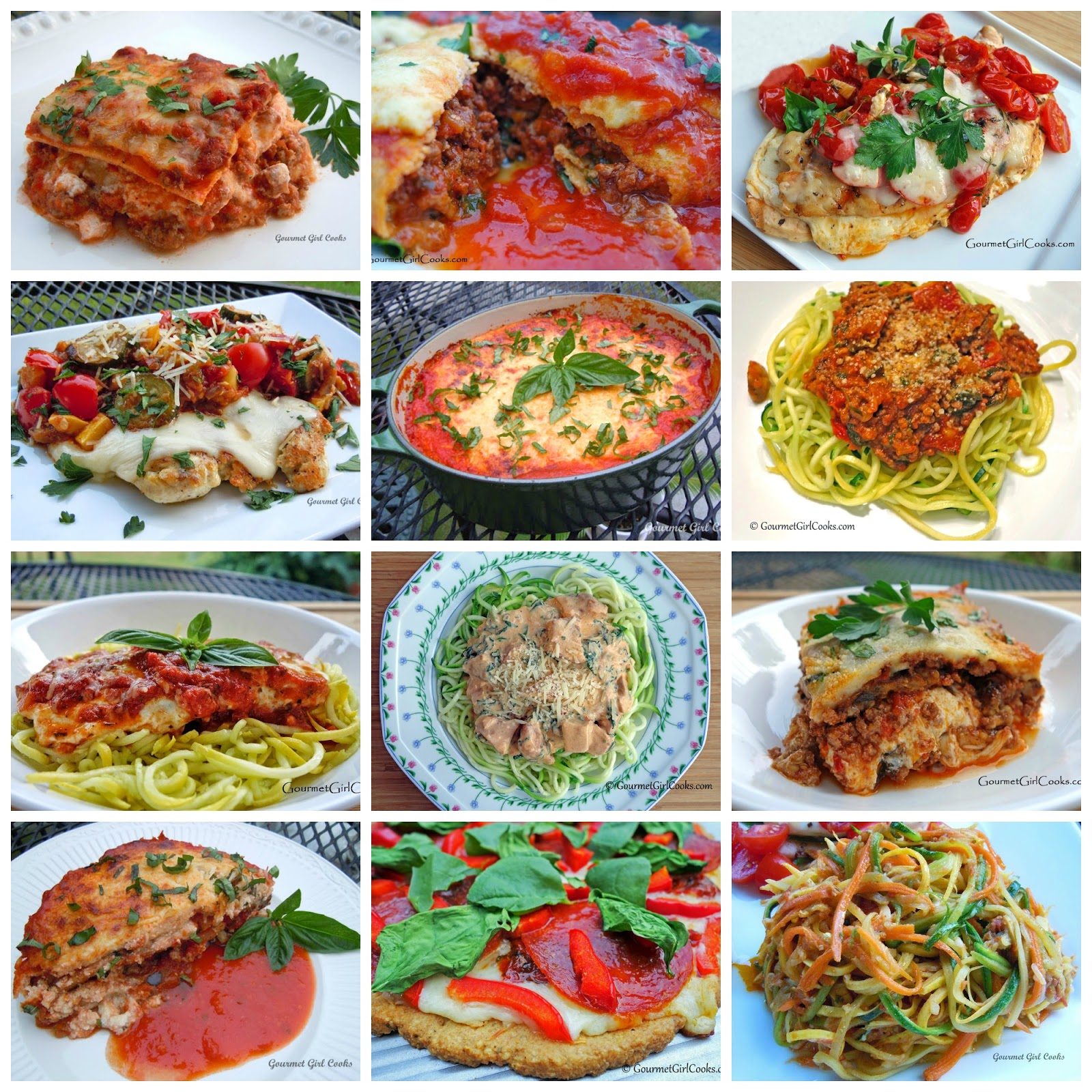 Gourmet girl cooks 16 low carb italian recipes a for Italian meals