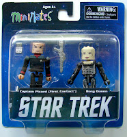 Diamond Select Star Trek Legacy Minimates - Captain Picard & Borg Queen Figures