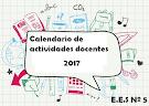 Calendario Escolar Docente 2017