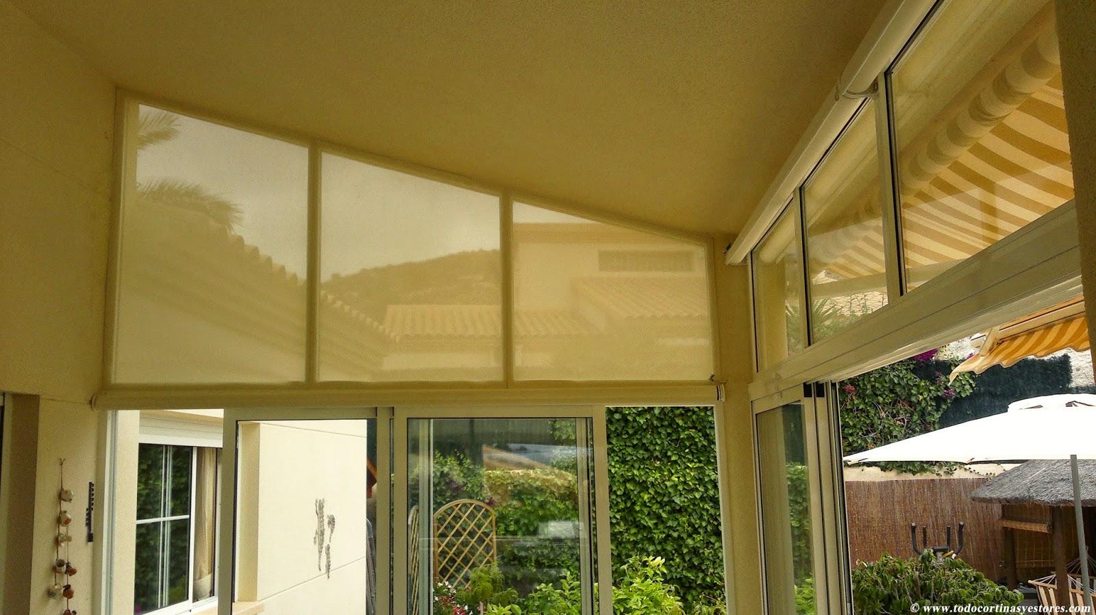 Decoracion interior cortinas verticales estores - Screen estores enrollables ...
