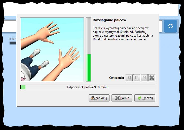 Ćwiczenie rozciągania palców, bardzo polecane przy profilaktyce Zespołu Cieśni Nadgarstka