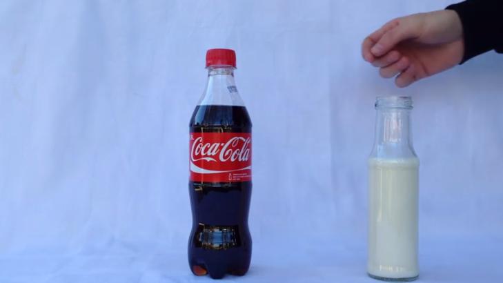 Coca-cola com leite