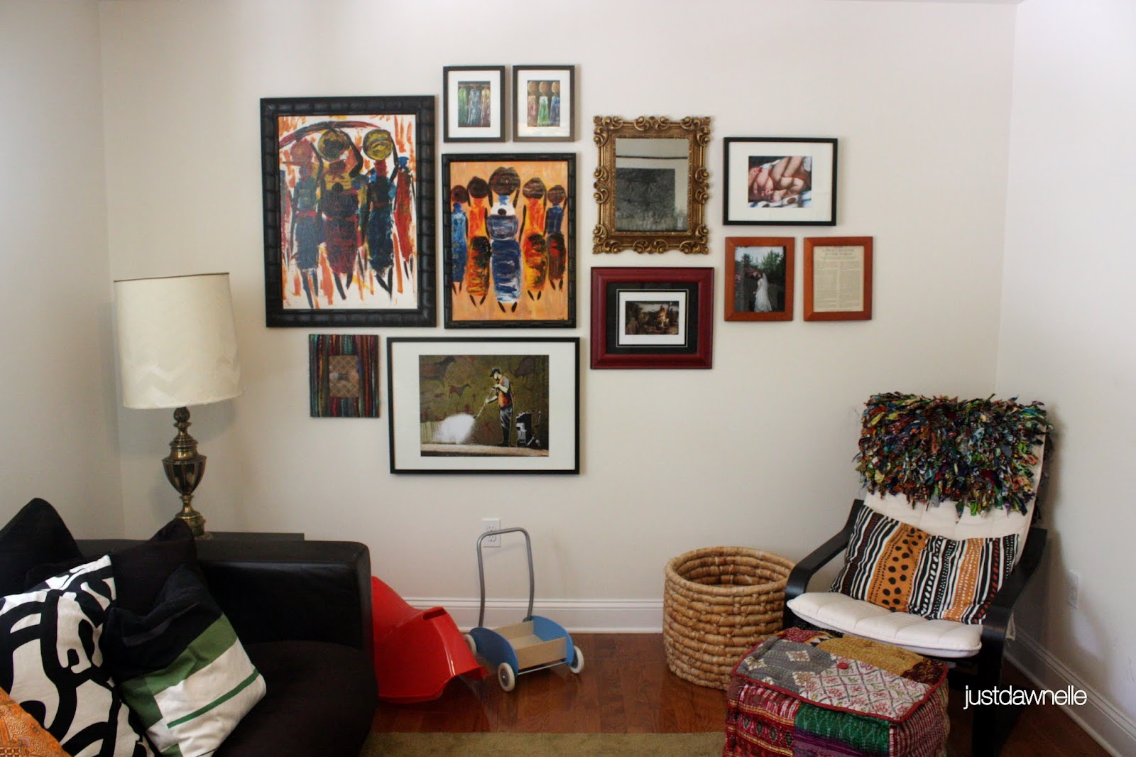 Just Dawnelle Living Room Sneak Peek Wall Collage