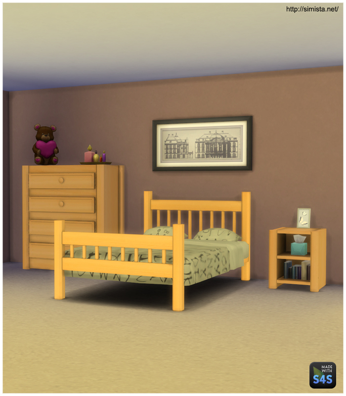 My Sims 4 Blog Simple Bedroom Set By Mr S