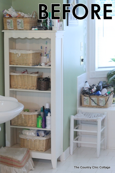 Bathroom organization tips and tricks the country chic Organizing ideas for small bathrooms