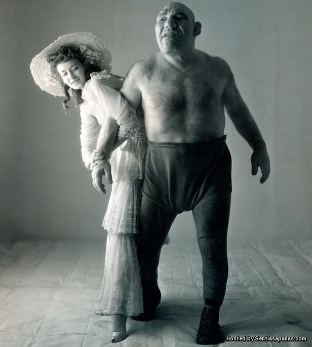 Maurice Tillet with Girl