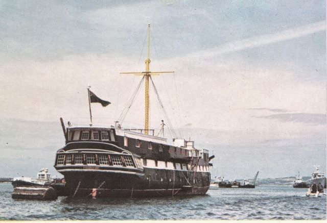 Remember the Foudroyant in the harbour?