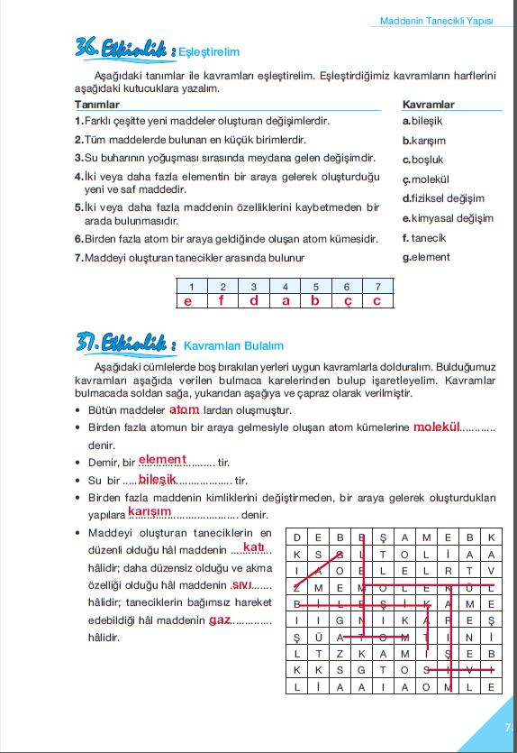 sınıf fen ve teknoloji çalışma kitabı cevapları sayfa 73