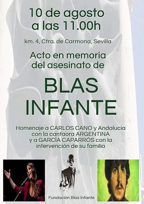 Reportaje gráfico.  ACTO EN MEMORIA DEL ASESINATO DE BLAS INFANTE