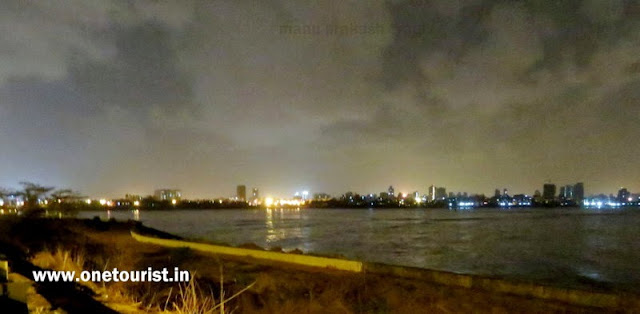 mumbai bandra warli sea link in night view