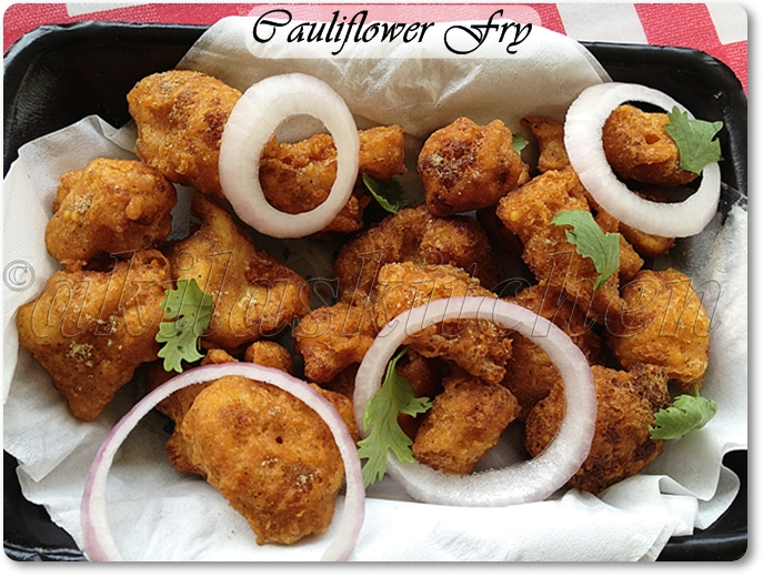 crispy cauliflower fry