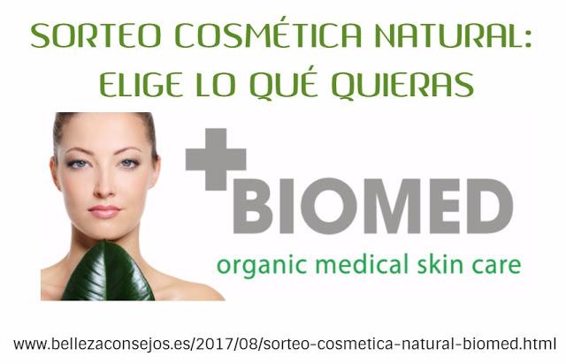 Sorteo cosmética natural Biomed