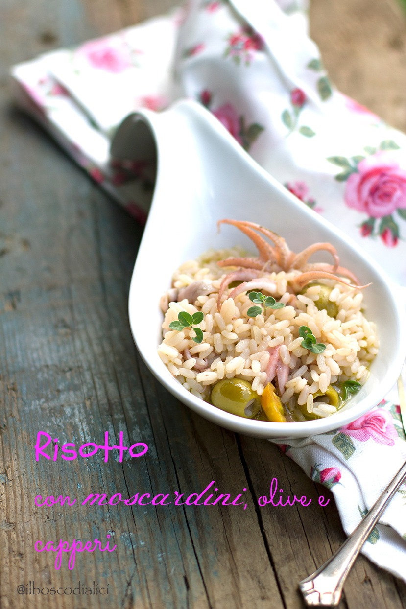 risotto con moscardini, olive e capperi......è il mare che decide