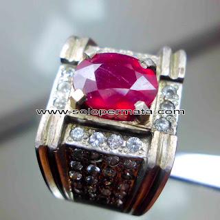 Batu Permata Ruby Corundum