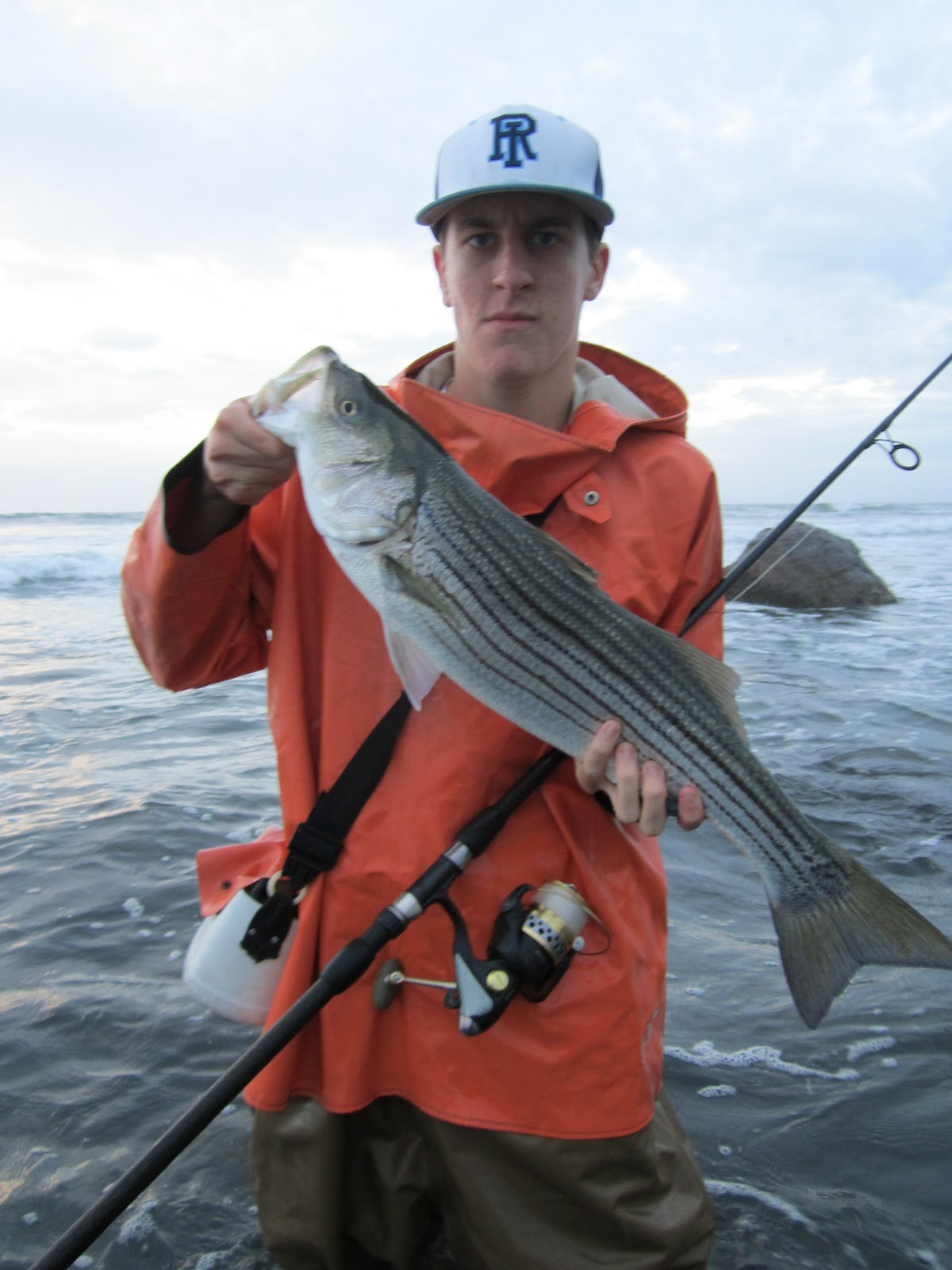 Rhode island striped bass the crappier the weather the for Best striper fishing spot in ri
