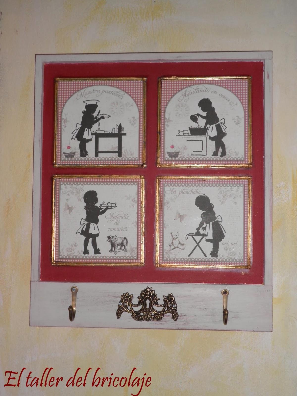 El taller del bricolaje cuadros con colgadores de cocina for Colgadores de cuadros