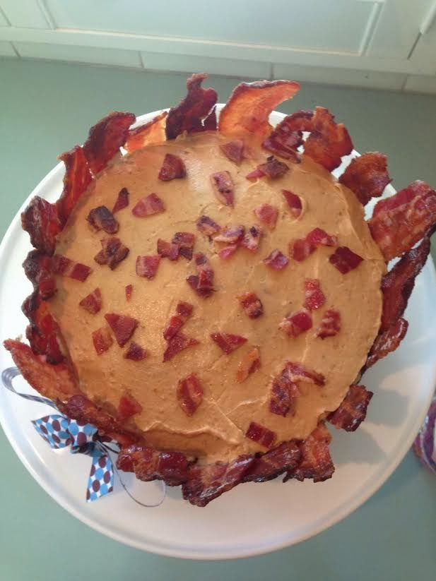 Giggleberry Creations Maple Bacon Birthday Cake