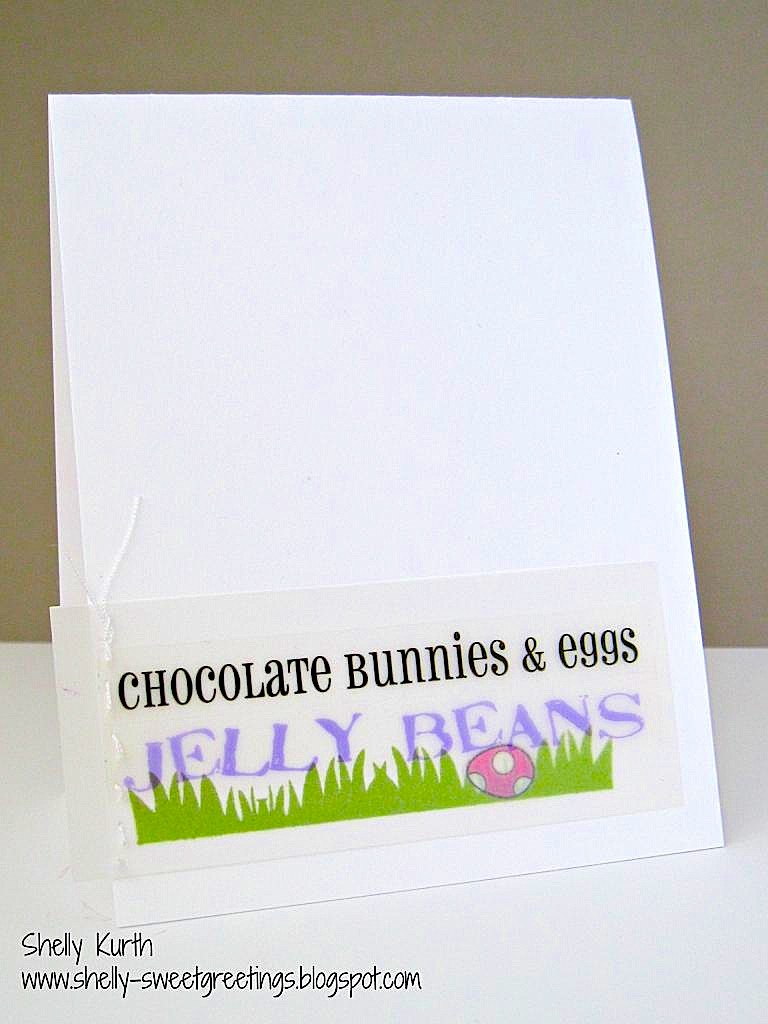 SRM Stickers Blog - CAS Easter Card by Shelly - #card #easter #stickers #CAS