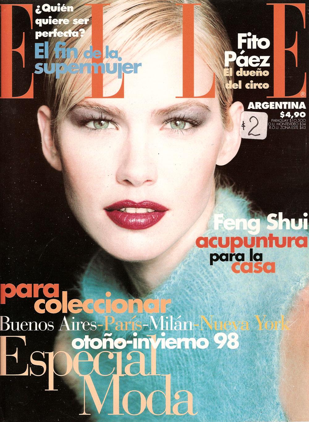 Valeria Mazza in Elle Argentina