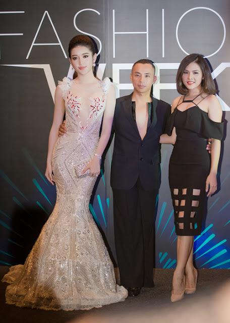 Tại sự kiện hôm qua, Á hậu có dịp hội ngộ với kiện tướng Chí Anh và Vân Trang.
